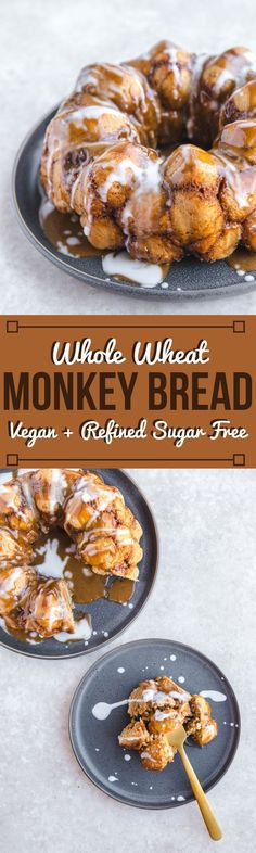 Healthy Whole Wheat Monkey Bread - Vegan Holiday Breakfast #vegan #plantbased
