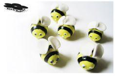 Bumble Bee edible sugarpaste birthday christening cake cupcake topper 6