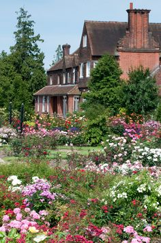 The Gardens of the Rose are located in Hertfordshire, just outside St Albans. These showpiece gardens of the Royal National Rose Society are a magnet for anyone with a passion for Roses. England.