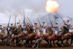 Moroccan horsemen perform during the edition of the 'Salon du Cheval' in the port city of El Jadida, Morocco Picture: Fadel Senna/AFP/Getty Images East Africa, North Africa, Pictures Of The Week, New Pictures, Spiegel Online, All The Pretty Horses, Horse Photos, Interesting Reads, New Image