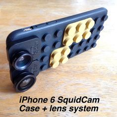 """SquidCam iPhone case and lens system! """"kings"""" code for 15% off and free domestic shipping through the month of February."""