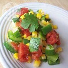 Foto recept: Mexicaanse komkommersalade