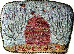 Karen Kahle's Lavender Honey pillow.  Primitive Spirit.  As posted on Flickr.
