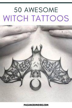 Time Tattoos, Bat Tattoos, Body Art Tattoos, Tattoo Drawings, Moon Tattoos, Sleeve Tattoos, Tatoos, Witchcraft Tattoos, Wiccan Tattoos