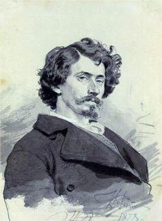 """""""Self portrait, 1878 Ilya Repin, Ukrainian Art, Russian Art, Gravure, Portrait Art, Portrait Paintings, Art World, Great Artists, Charcoal Drawings"""