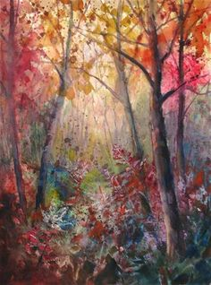"""Daily Paintworks - """"A Glow in the Woods"""" - Original Fine Art for Sale - © Melissa Gannon"""