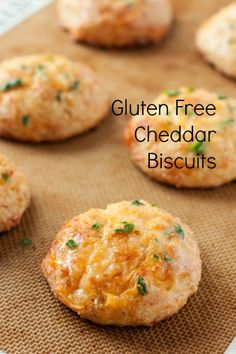 Gluten free cheddar biscuits that are heavy on the garlic, and delicious flavor. Completely addicting!