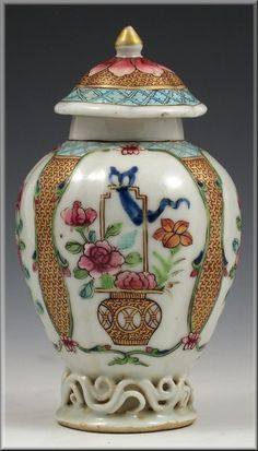 18th c. Chinese 'famille rose' tea caddy