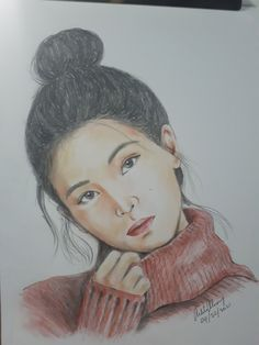 Lee Ji-eun known professionally as IU (Korean: 아이유), is a South Korean singer-songwriter and actress. Celebrity Drawings, Korean Singer, Sketches, Portraits, Actresses, Celebrities, Artwork, Drawings, Female Actresses