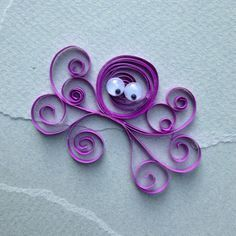 Quilled Art for Kids step-by-step instructions and examples of shapes and creatures to make.  // Quilled Octopus