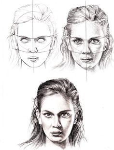 how to draw a face  (Retrato humano realista)