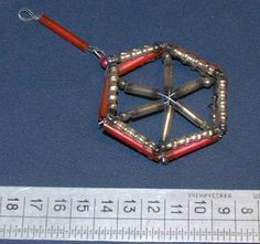 Vintage East German DDR GDR Spangles Wheel x mas Tree Ornament Decoration |