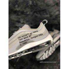 Copuon Women Off White X Nike Air Max 97 Sneaker SKU:124726-329 Retro Nike Shoes, Retro Basketball Shoes, Jordan Viii, Air Jordan Vi, Air Max 97, Nike Air Max, Nike Lebron, Nike Men, Off White