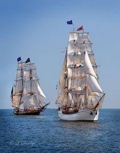 """US Brig Niagara & Barque Europa. Tall Ship Festival, Duluth. """"and all I need is a tall ship and a star to steer her by..."""" John Masefield"""