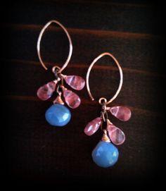 Chalcedony Dangle Earrings