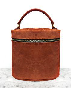 Khoi Le Suede Ellipse Bag, $350