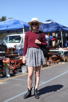 Love this outfit from the @Free People post on Rosebowl Flea Market street style; I must go one day!