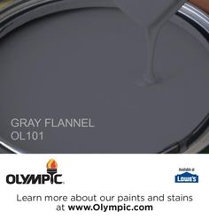GRAY FLANNEL OL101 is a part of the blues collection by Olympic® Paint.