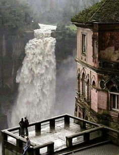 Tequendama Falls, Bogota, Columbia - Hotel del Salto, Columbia: opened 1928 to welcome travelers to the Tequendama Falls.