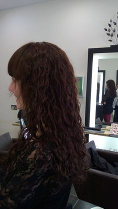 long hair perm - wash and let it dry - my hair in the 80s