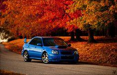 World Rally Fall by Andrew Thompson on Subaru Impreza Sti, Wrx Sti, Tuner Cars, Jdm Cars, My Dream Car, Dream Cars, Subaru Rally, Car Poses, Jdm Wallpaper