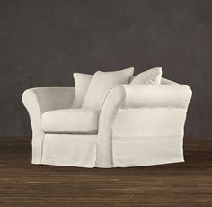 Camelback Slipcovered Chair | Chairs | Restoration Hardware