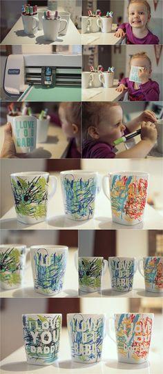 Father's Day coffee mug || perfect last minute kid craft!