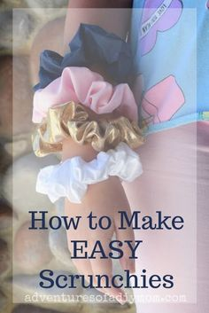 how to make EASY scrunchies. A perfect project for tweens and teens.Learn how to make EASY scrunchies. A perfect project for tweens and teens. How to Sew a Scrunchie - how to make a scrunchie, diy scrunchie How To Make Hair Rubber Band At Home Easy Sewing Projects, Sewing Projects For Beginners, Sewing Hacks, Sewing Tutorials, Sewing Crafts, Sewing Tips, Dress Tutorials, Diy Crafts, Diy Hair Scrunchies