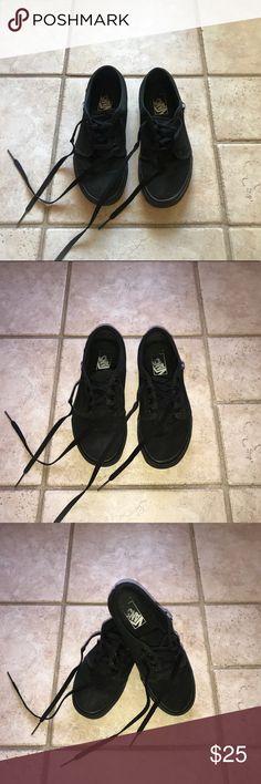 All black VANS All black VANS. Pre-loved condition, still in great shape. Women's size 8; Men's size 6.5. Vans Shoes