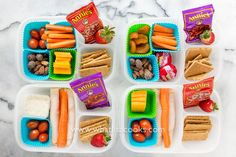 Simple & Healthy snack boxes for school lunch - from WhatLisaCooks.com