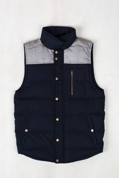 Mens Drummond Colorblock Wool Vest | United By Blue