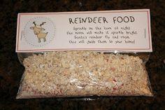 Dear Santa-Reindeer Food Printables