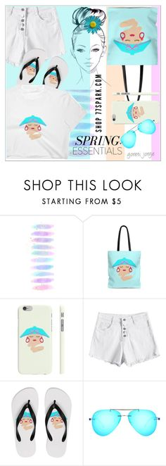 """""""77Spark  - Spring Essentials"""" by goreti ❤ liked on Polyvore featuring Brush Strokes and Ray-Ban"""