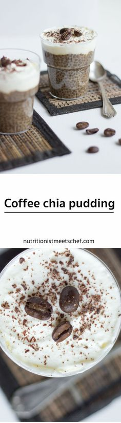 Coffee Chia Pudding! Perfect dessert for all coffee lovers! #coffee