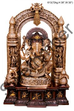 Buy decorative brass #Ganesh online for home decor at #craftshopsindia