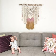 ABOUT THIS MACRAME WALL HANGING LARGE MAJESTIC JEWEL A fusion between Majestic and Jewel designs, this piece has it all! Weaving, tassels, copper piping and thread, frilly fringing and of course lots of macrame knots! Please let me know if you would like dip dyeing or would like to keep it plain. Add your choice of colours in the note to seller section at checkout. If you have any questions please dont hesitate to contact me! This wall hanging measures approximately W80cm x L90cm…