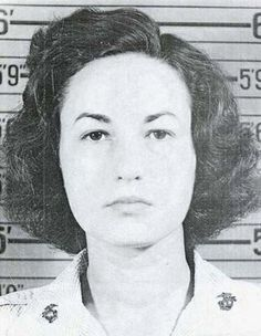 """Bea Arthur (née Bernice Frankel) (1922-2009) SSgt. USMC 1943-45 WW II. Enlisted and assigned as typist at Marine HQ in Wash DC, then air stations in VA and NC. Best remembered for her title role in the TV series Maude and as Dorothy in """"Golden Girls""""."""