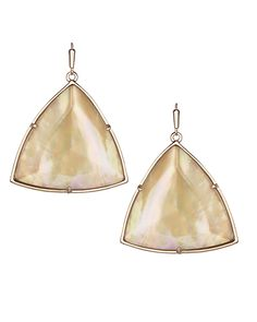 Nikki Drop Earrings in Brown Mother-of-Pearl - Kendra Scott Jewelry. Coming April Rose Gold Drop Earrings, Metal Shop, Kendra Scott Jewelry, Hair And Nails, Jewelry Design, Pearls, My Style, Brown, Accessories