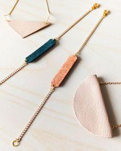 Clay Jewelry, Jewelry Crafts, Handmade Jewelry, Fine Jewelry, Jewelry Ideas, Jewelry Tags, Recycled Jewelry, Handmade Accessories, Handmade Bracelets