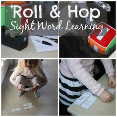 Roll & Hop Sight Word Learning - Literacy for little ones who like to MOVE! #learntoread #raiseareader #sightwords #read #education