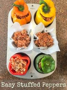 The best stuffed green peppers recipe ever, you've gotta' try this!!!