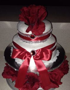 Two tier 6 & 8 inch cake