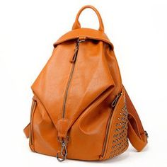 women backpacks leather backpacks for teenage girls travel women bags rivet backpacks student school bag 2016 BD-144