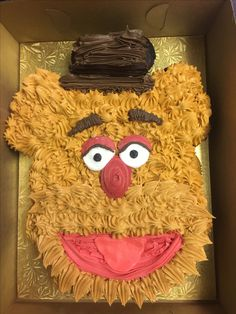 Fozzy Bear pull-a-part cupcake cake!!@sugarush_red_bank