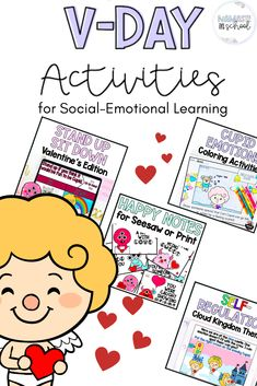 Are you a primary counselor or Kindergarten, first grade or second grade teacher looking for no-prep, meaningful Valentine's day activities? This seasonal bundle comes with an engaging movement break, emotional regulation-themed coloring activities and drag and drop for Google Slides, as well as positive notes for parents or to exchange amongst students. The Valentine's are also made to be able to be uploaded to Seesaw or any other online platform for distance learning as well. #tptpins…