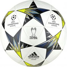 adidas UEFA Champions League Finale Kiev Capitano voetbal white black solar  yellow blue 1208c5f964deb