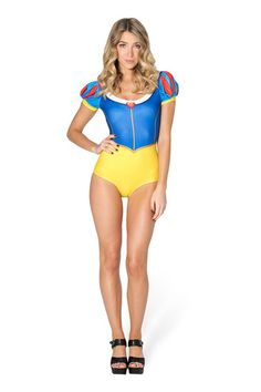 Snow White Puff Sleeve Suit - LIMITED › Black Milk Clothing