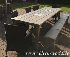 Garten Möbel Tisch mit Feuerstellen und Bank