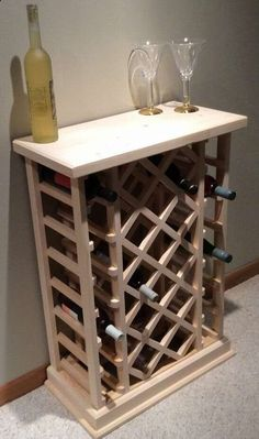 Homemade wine rack wine rack plans from diy wine rack pallet plans Wood Projects, Woodworking Projects, Wine Rack Design, Wine Rack Plans, Wood Wine Racks, Wine Cabinets, Wine Storage, Storage Rack, Pallet Furniture
