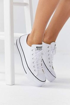 Converse Chuck Taylor All Star Lift Leather Sneakers Cool Sneakers From Urban Outfitters 2018 & POPSUGAR Fashion The post Converse Chuck Taylor All Star Lift Leather Sneakers & SNEAKER appeared first on Shoes . Converse Outfits, Allstars Converse, Sneaker Outfits, Black Converse, Converse Sneakers, White Leather Converse, Converse Classic, Galaxy Converse, Tennis Sneakers